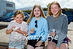Enjoying their ice cream on Castlegregory beach on Saturday, l to r: Jessica Doherty, Kaydi Smith and Lucy Himi.