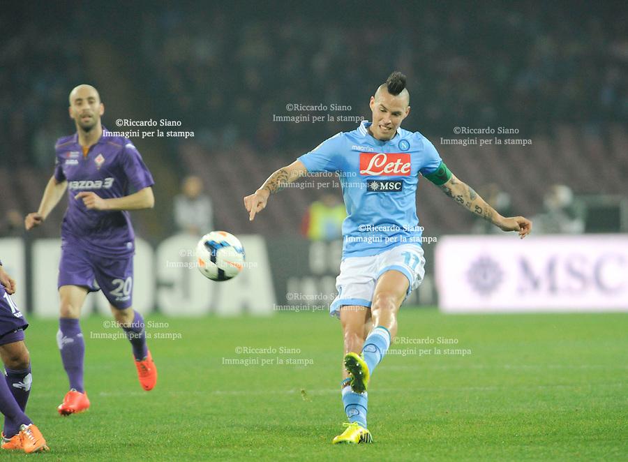 - NAPOLI 23 MAR  -  Stadio San Paolo    Napoli -  Fiorentina<br />  nella foto Hamsik