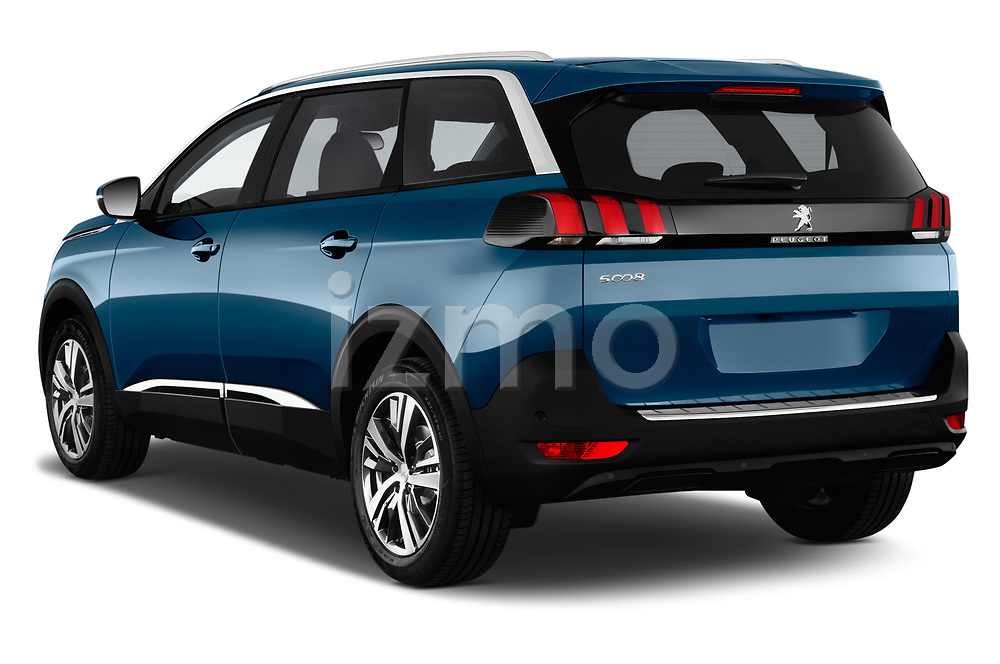 Car pictures of rear three quarter view of a 2017 Peugeot 5008 GT Line 5 Door SUV angular rear
