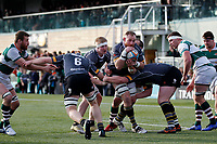 Nottingham Rugby FC protect the ball during the Championship Cup Quarter Final match between Ealing Trailfinders and Nottingham Rugby at Castle Bar , West Ealing , England  on 2 February 2019. Photo by Carlton Myrie / PRiME Media Images.