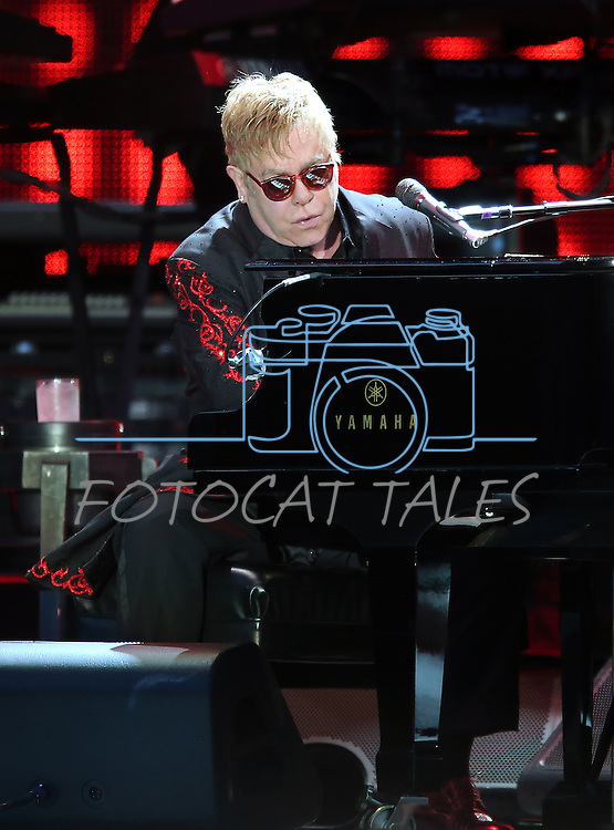Elton John performs at Harveys Lake Tahoe Outdoor Arena in Stateline, Nev., on Saturday, Aug. 8, 2015.<br /> Photo by Cathleen Allison
