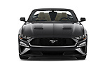 Car photography straight front view of a 2020 Ford Mustang EcoBoost 2 Door Convertible