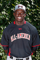 Outfielder Anthony Alford #21 poses for a photo before the Under Armour All-American Game at Wrigley Field on August 13, 2011 in Chicago, Illinois.  (Mike Janes/Four Seam Images)