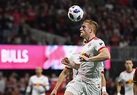 Atlanta, Georgia - Sunday, November 25, 2018. Atlanta United defeated the New York Red bulls, 3-0, in the first leg of the MLS Eastern Conference Final in front of a crowd of 70,016 at Mercedes-Benz Stadium.