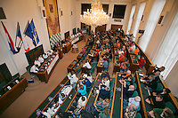 30-01-2014,Czech Republic, Ostrava, Cez Arena, Davis Cup, Czech Republic vs Netherlands, draw, Overall view of the draw in city hall <br /> Photo: Henk Koster