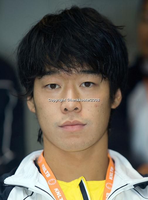 18-9-08, Netherlands, Apeldoorn, Tennis, Daviscup NL-Zuid Korea, Draw in cityhall,  WoongSun Jun
