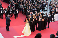 Lawyer Amal Clooney, actors George Clooney, Julia Roberts, Dominic West, Caitriona Balfe, producer Jodie Foster and actor Jack O'Connell - CANNES 2016 - MONTEE DES MARCHES DU FILM 'MONEY MONSTER'