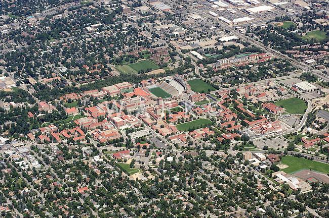 University of Colorado at Boulder campus aerial