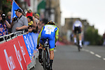 Primoz Roglic (SLO) in action during the Men Elite Individual Time Trial of the UCI World Championships 2019 running 54km from Northallerton to Harrogate, England. 25th September 2019.<br /> Picture: Eoin Clarke | Cyclefile<br /> <br /> All photos usage must carry mandatory copyright credit (© Cyclefile | Eoin Clarke)