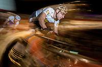 Golden Elia Viviani (ITA/SKY) pacing Iljo Keisse (BEL/Etixx-QuickStep) for a fast lap<br /> <br /> 2016 Gent 6<br /> day 5