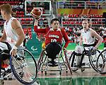 Katie Harnock, Rio 2016 - Wheelchair Basketball // Basketball en fauteuil roulant.<br /> The Canadian women's wheelchair basketball team plays Netherlands in the quarter-finals // L'équipe canadienne féminine de basketball en fauteuil roulant affronte les Pays-Bas en quarts de finale. 13/09/2016.