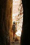 "Trekking in the "" little siq"" or Wadi Muthlim. Petra. Jordan"