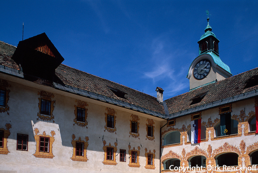 Slowenien, Idria, Burg Gewerkenegg.