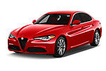 2019 Alfaromeo Giulia - 4 Door Sedan Angular Front automotive stock photos of front three quarter view