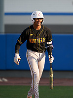 Montverde Academy Eagles Cadmiel Pompa (31) after hitting a home run during a game against the IMG Academy Ascenders on April 8, 2021 at IMG Academy in Bradenton, Florida.  (Mike Janes/Four Seam Images)