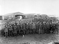 Personnel, 3d Motor Mechanics - 1st Air Depot.  Colombey, France, ca.  1918.  Air Service Photographic Section (Army Air Forces)<br />Exact Date Shot Unknown<br />NARA FILE #:  018-E-3893<br />WAR & CONFLICT BOOK #:  471