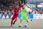 Cagliari Calcio (in green) vs HKFA Red Dragons (in red), during their Main Tournament match, part of the HKFC Citi Soccer Sevens 2017 on 27 May 2017 at the Hong Kong Football Club, Hong Kong, China. Photo by Chris Wong / Power Sport Images