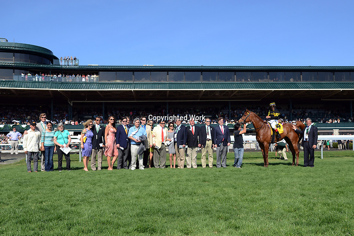 Aoril 12, 2014: Judy the Beauty and jockey John Velazquez win the G1 Madison S. at Keeneland for owner  and trainer Wesley Ward.Jessica Morgan/ESW/CSM