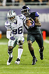 Kansas State Wildcats wide receiver Tramaine Thompson (86) in action during the game between the Kansas State Wildcats and the TCU Horned Frogs  at the Amon G. Carter Stadium in Fort Worth, Texas. Kansas State defeats TCU 23 to 10...