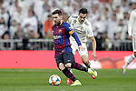 Real Madrid CF's Sergio Reguilon and FC Barcelona's Leo Messi during the King's Cup semifinals match. February 27,2019. (ALTERPHOTOS/Alconada)