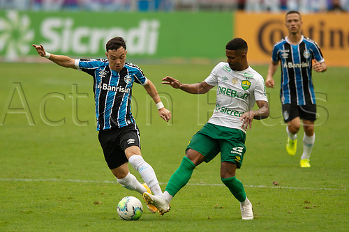 18th November 2020; Arena de Gremio, Porto Alegre, Brazil; Brazil Cup, Gremio versus Cuiaba; Pepe of Gremio turns away from the challenge from Hayner of Cuiaba