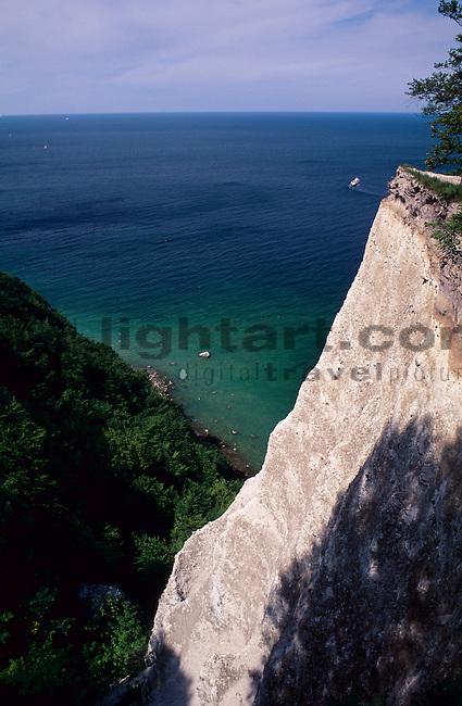 Kreidefelsen, Chalk-cliff, Königsstuhl, Insel Rügen, Rügen Island, Baltic Sea, Ostsee, Mecklenburg-Vorpommern, Deutschland, Germany