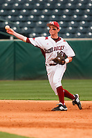 Tim Carver (18);March 9th, 2010; South Dakata State University vs Arkansas Razorbacks at Baum Stadium in Fayetteville Arkansas. Photo by: William Purnell/Four Seam Images