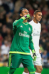 Real Madrid's Keylor Navas after stops the penalty and Sevilla FC's  during La Liga match. March 20,2016. (ALTERPHOTOS/Borja B.Hojas)