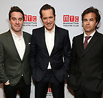"""James Graham, Bertie Carvel and Rupert Goold attends the Broadway Opening Night After Party for """"Ink"""" at the Copacabana on April 24, 2019  in New York City."""