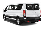 Car pictures of rear three quarter view of 2020 Ford Transit XLT 4 Door Passenger Van Angular Rear