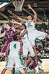North Texas Mean Green forward Tony Mitchell (13) in action during the game between the Arkansas Little Rock Trojans and the North Texas Mean Green at the Super Pit arena in Denton, Texas. UALR defeats UNT 62 to 57...