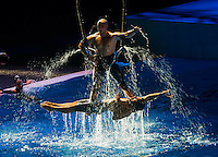 The opening ceremony<br /> Palau Sant Jordi, Barcelona (Spain) 19/07/2013 <br /> Fina World Championships Barcelona 2013<br /> © Giorgio Perottino / Insidefoto