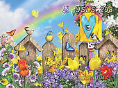 Lori, FLOWERS, BLUMEN, FLORES, paintings+++++Sitting On The Fence Sprung_2,USLS298,#f#, EVERYDAY ,puzzle,puzzles