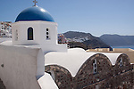 Blue Dome Church in Oia