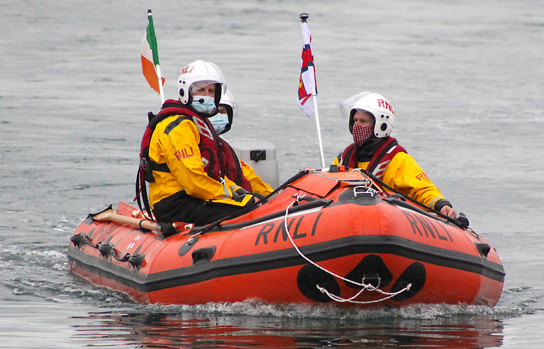 Fethard Lifeboat launched at Duncannon Strand