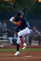 AZL Indians Red Alexfri Planez (33) at bat during an Arizona League game against the AZL Padres 1 on June 23, 2019 at the Cleveland Indians Training Complex in Goodyear, Arizona. AZL Indians Red defeated the AZL Padres 1 3-2. (Zachary Lucy/Four Seam Images)