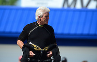 May 4, 2012; Commerce, GA, USA: NHRA funny car driver Jim Head during qualifying for the Southern Nationals at Atlanta Dragway. Mandatory Credit: Mark J. Rebilas-