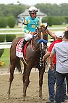 Fast Bullet with Joel Rosario wins the 35th running of the Grade II RTN True North Handicap for 3-year olds & up, going 6 furlongs, at Belmont Park.  Trainer Bob Baffert  Owners  Zayat Stables, LLC.