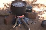 Preparing lunch, Ntcheu District village, Malawi