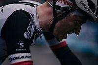 post-stage sweat<br /> <br /> 76th Paris-Nice 2018<br /> Stage 7: Nice > Valdeblore La Colmiane (175km)