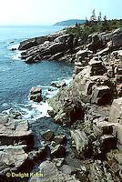 AC24-001e  Ocean - rock cliff along ocean - Acadia National Park, Maine