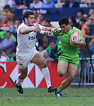 Argentina vs Australia on Day 3 of the 2012 Cathay Pacific / HSBC Hong Kong Sevens at the Hong Kong Stadium in Hong Kong, China on 25th March 2012. Photo © Victor Fraile  / The Power of Sport Images