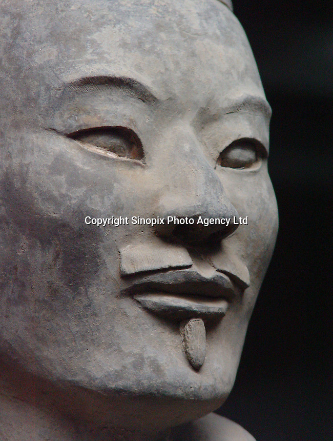 The Terracotta Warriors in Xi'an, China are a national treasure that was discovered in 1974 by a farmer diiging a well for water.  There are thousands of life size stone statues at the site..29-AUG-02
