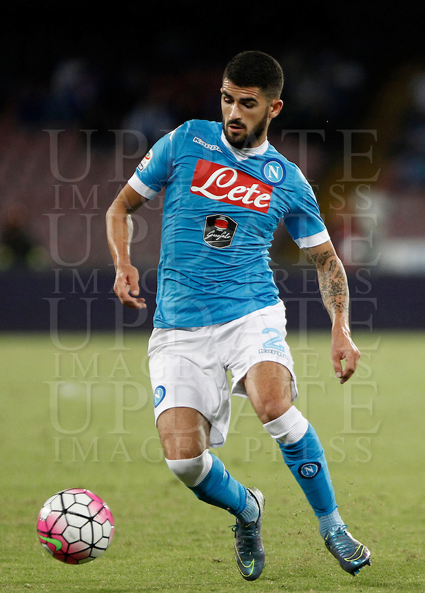 Calcio, Serie A: Napoli vs Juventus. Napoli, stadio San Paolo, 26 settembre 2015. <br /> Napoli's Elseid Hysaj in action during the Italian Serie A football match between Napoli and Juventus at Naple's San Paolo stadium, 26 September 2015.<br /> UPDATE IMAGES PRESS/Isabella Bonotto<br /> <br /> *** ITALY AND GERMANY OUT ***