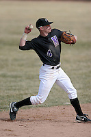 March 22nd 2009:  Shortstop Jason Cramer (4) of the Niagara University Purple Eagles during a game at Sal Maglie Stadium in Niagara Falls, NY.  Photo by:  Mike Janes/Four Seam Images