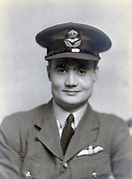 BNPS.co.uk (01202) 558833. <br /> Pic: DixNoonanWebb/BNPS<br /> <br /> Pictured: Group Captain Charles Kingcome. <br /> <br /> The medals of one of 'The Few' who survived bailing out of his Spitfire after being shot at 20,000ft have sold for £136,000 - triple their estimate.<br /> <br /> Group Captain Charles Kingcome officially claimed 11 kills during the Second World War but his actual tally is believed to have been far higher.<br /> <br /> He served at the Battle of France and the Dunkirk evacuation before becoming one of the most prolific pilots in the Battle of Britain.<br /> <br /> But he was nearly killed in October 1940 when a German Messerschmitt 109 plane raked his cockpit with bullets. He was tossed out of the cockpit like a 'rag doll in a hurricane' and parachuted rapidly towards the Kent countryside.