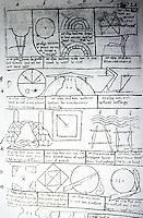 Visual Arts:  Villard De Honnecourt, Plate 55.  THE SKETCHBOOK OF VILLARD DE HONNECOURT.