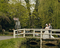 A Chinese couple pose for their wedding photos in Lower Slaughter, The Cotswolds, UK.  An increasing number of Chinese couple are having their wedding photos taken in the English country-side, classic towns and monuments to show in China. <br /> <br /> Photo by Sinopix