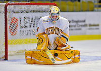 16 November 2008: University of Vermont Catamount goaltender Rob Madore, a Freshman from Venetia, PA, warms up prior to a game against the Merrimack College Warriors at Gutterson Fieldhouse in Burlington, Vermont. The Catamounts defeated the Warriors 2-1 in Hockey East play...Mandatory Photo Credit: Ed Wolfstein Photo