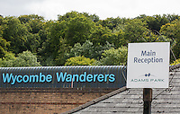 General view Outside Adams Park during the Capital One Cup match between Wycombe Wanderers and Fulham at Adams Park, High Wycombe, England on 11 August 2015. Photo by Andy Rowland.